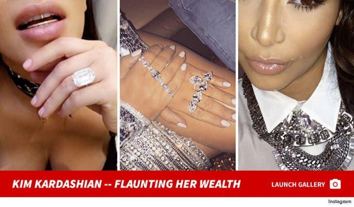 Kim Kardashian -- Flaunting Her Wealth