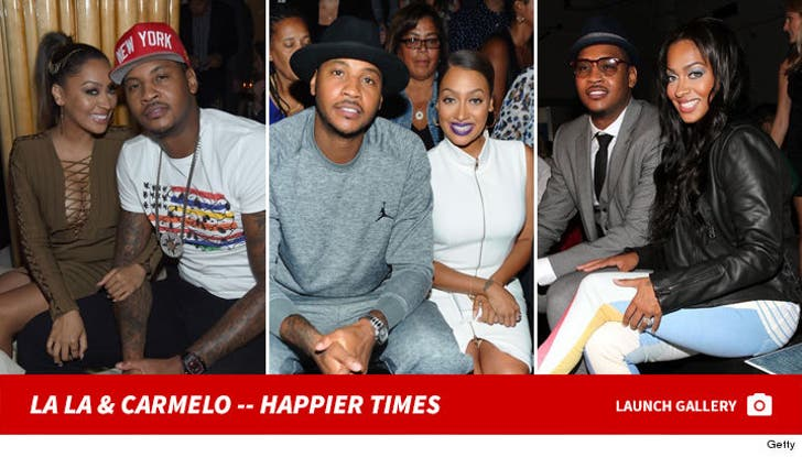 La La Anthony and Carmelo Anthony -- Happier Times