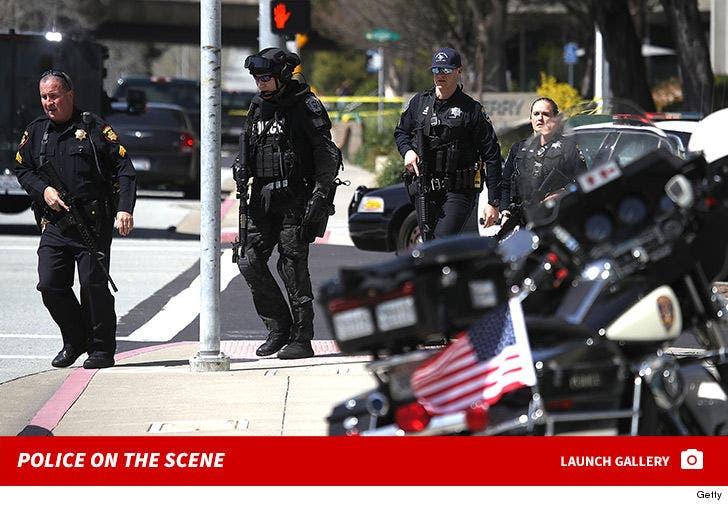 YouTube Shooting -- Police on the Scene