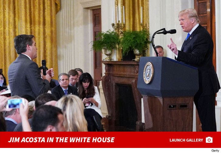 Jim Acosta In The White House