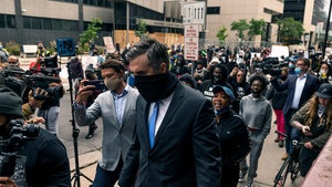 Ex-Cops in George Floyd Case Greeted by Angry Crowd Leaving Court