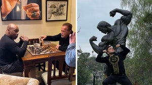 Mike Tyson & Henry Cejudo Bro Down With Schwarzenegger at Arnold's L.A. Mansion