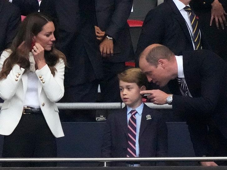 Prince George Enjoys UEFA 2020 Soccer Final with Mom & Dad