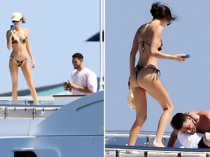 Kendall Jenner Rocks Tiny Bikini On Yacht With Devin Booker