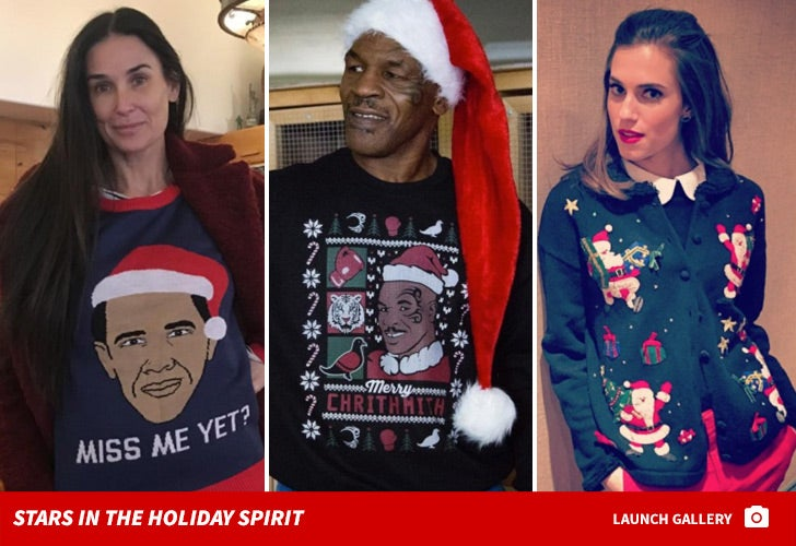 Stars in Ugly Christmas Sweaters