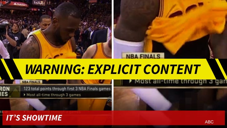 new arrivals acd58 87610 LeBron James -- Royal Penis Exposed ... During NBA Finals