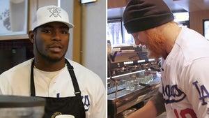 Yasiel Puig & Justin Turner GET TO WORK at L.A. Coffee Shop (VIDEO)