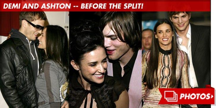 Demi Moore and Ashton Kutcher -- Before the Split