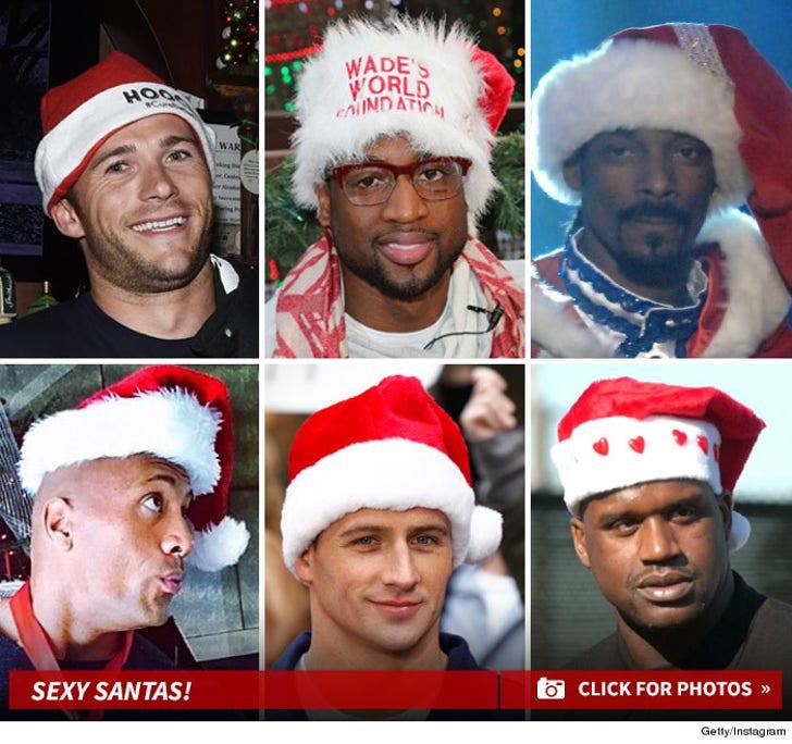 Tough Guys Wearin' Santa Hats