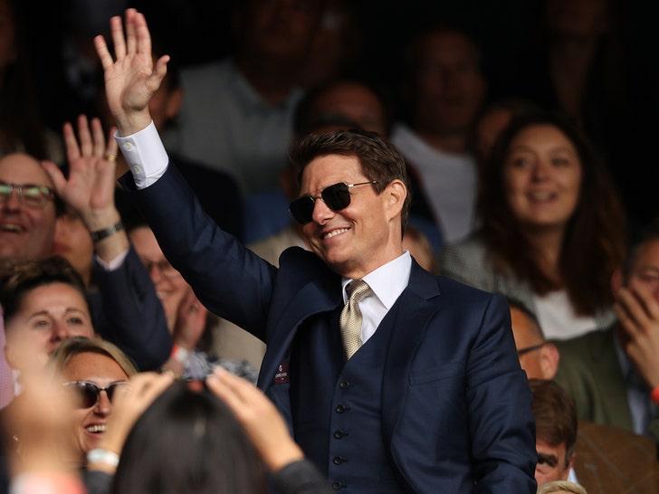Tom Cruise at Wimbledon 2021