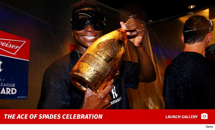 Yankees Celebrate Wild-Card Win With Ace of Spades Champagne