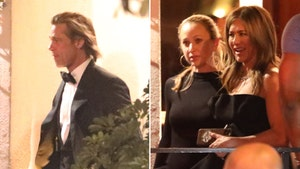 Brad Pitt & Jennifer Aniston Attend Same Golden Globes After-Party