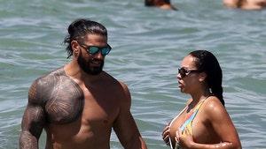 WWE Superstar Roman Reigns, Wife Show Off Smokin' Hot Beach Bods In Miami
