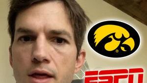 Ashton Kutcher Met with 'Take a Shower' Chants Ahead of Iowa Game
