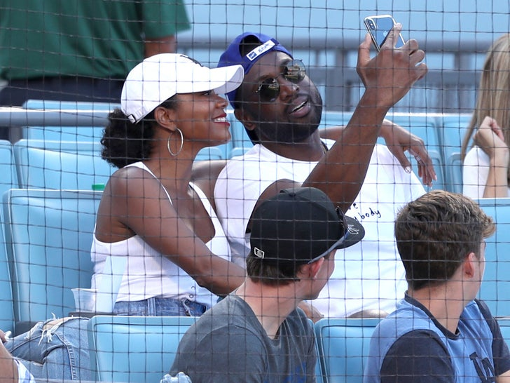 Celebs At The Dodgers Game -- Famous Fans