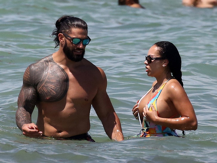 Photos: WWE Star Roman Reigns And His Wife Galina Spotted At Miami Beach 1