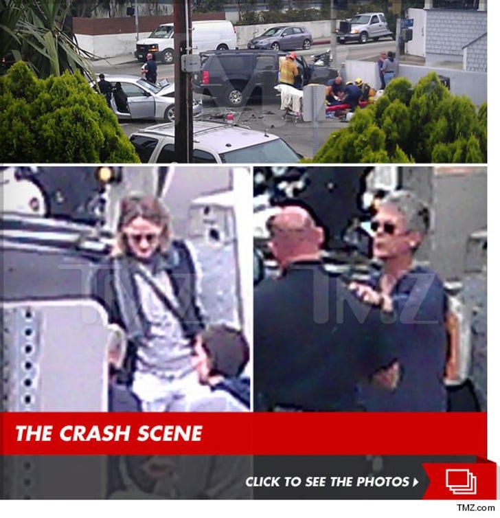 Jamie Lee Curtis Injured in Car Crash -- Jodie Foster to the Rescue!