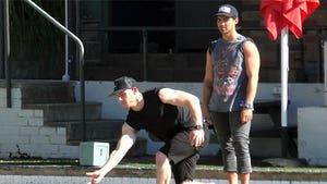 Nick & Joe Jonas Try Their Hands at Lawn Bowling in Australia