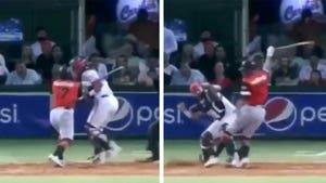 Ex-MLB Player Attacks Catcher With Bat In Insane Brawl In Venezuelan Game