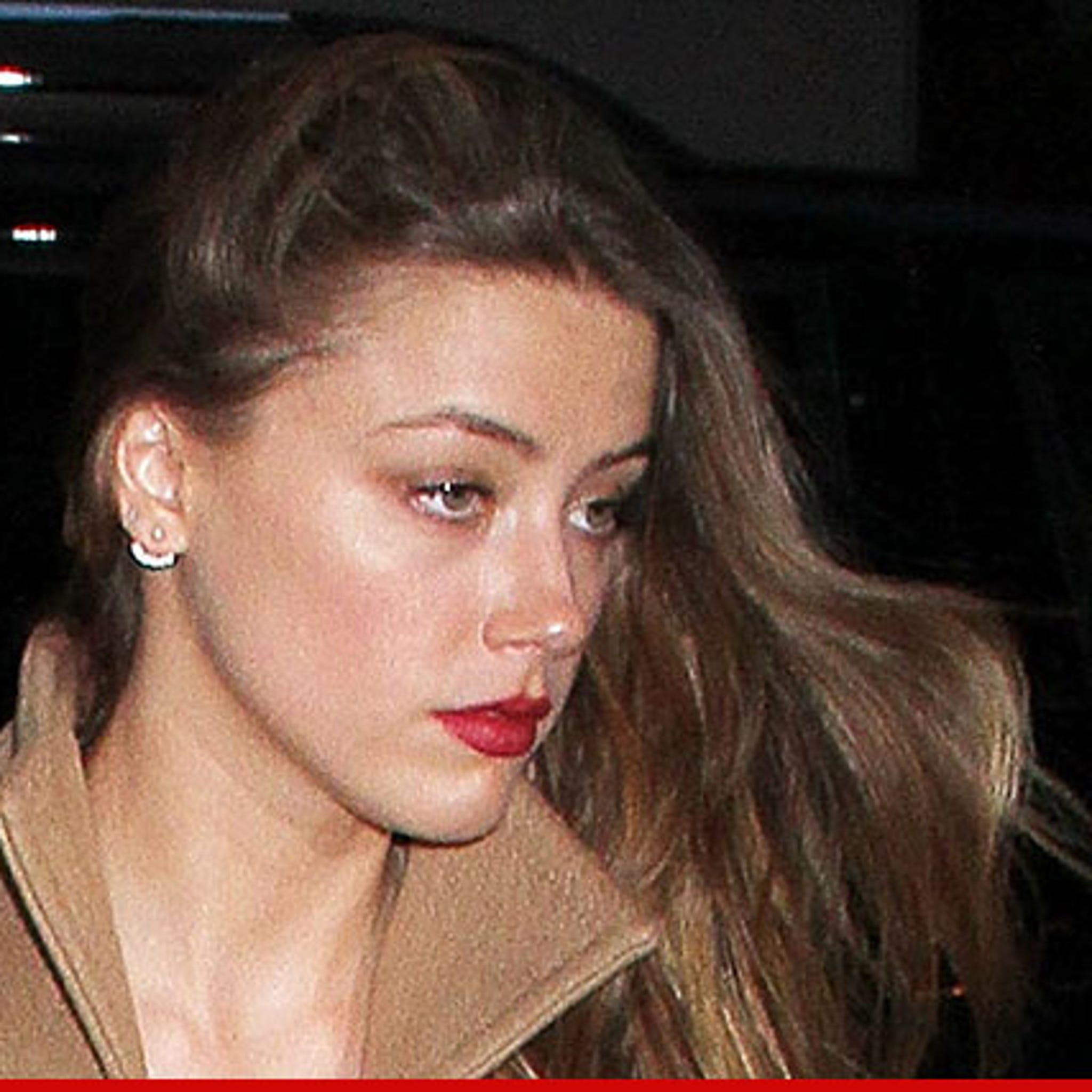 Amber Heard Topless amber heard -- hackers release topless message to johnny depp