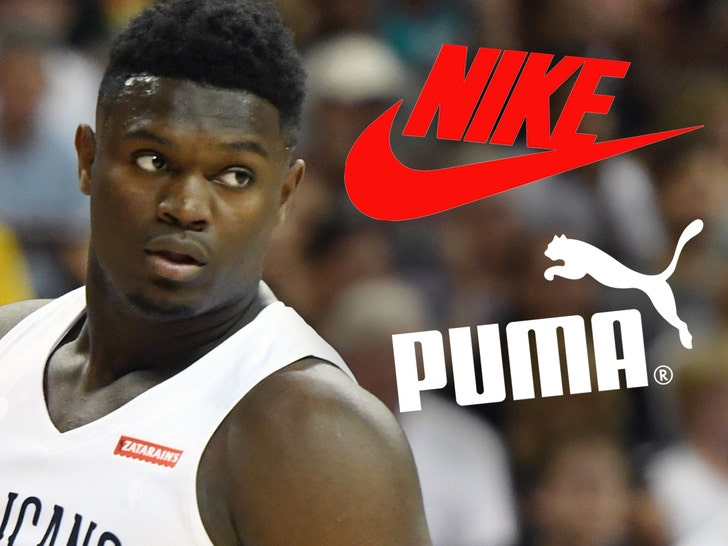 Zion Williamson Getting Full-Court Press from Puma, Nike In the Running