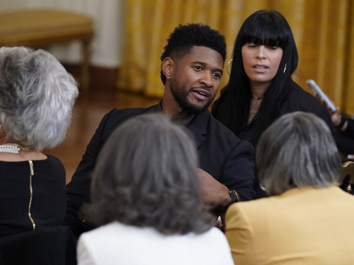 Usher attends Juneteenth bill signing at White House