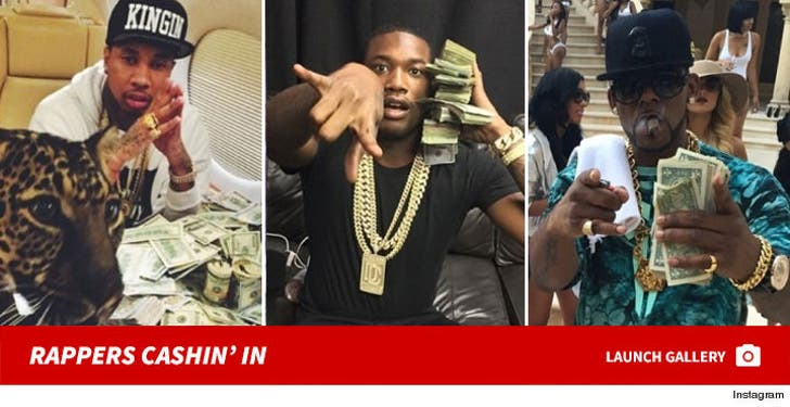 Mo Money, Mo Problems -- Rappers Cashin' In