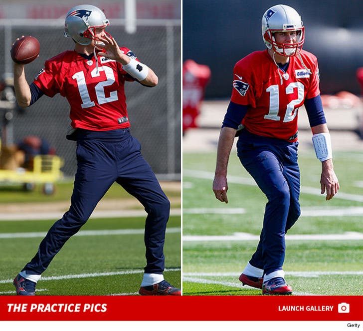 Tom Brady's Super Bowl Practice Pictures