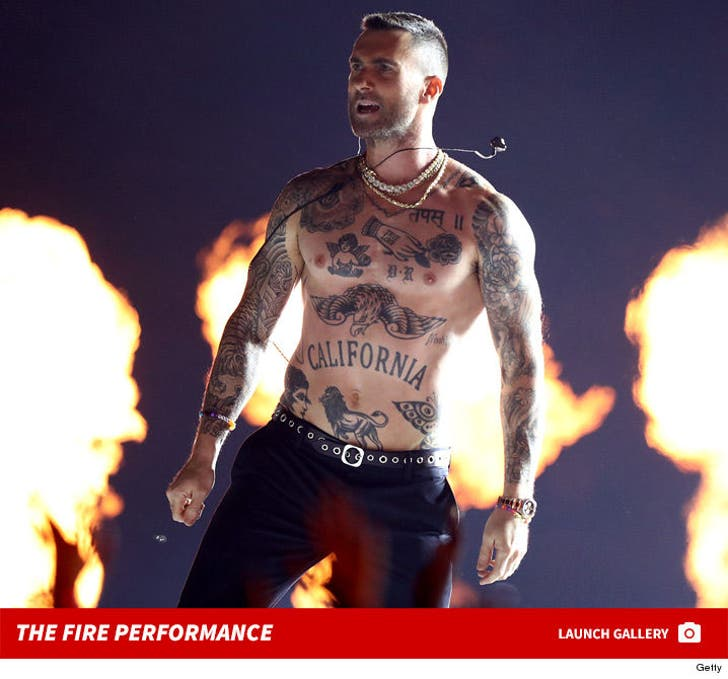 Super Bowl LIII Halftime Show -- The Fire Performance