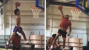 NBA Prospect Obi Toppin And Brother Soar Over Each Other In Insane Jam Sesh