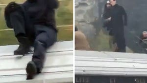 Tom Cruise Balances on Top of Speeding Train for 'Mission Impossible'