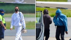 Kanye West & Irina Shayk Fly Back to the States Together, Same Plane
