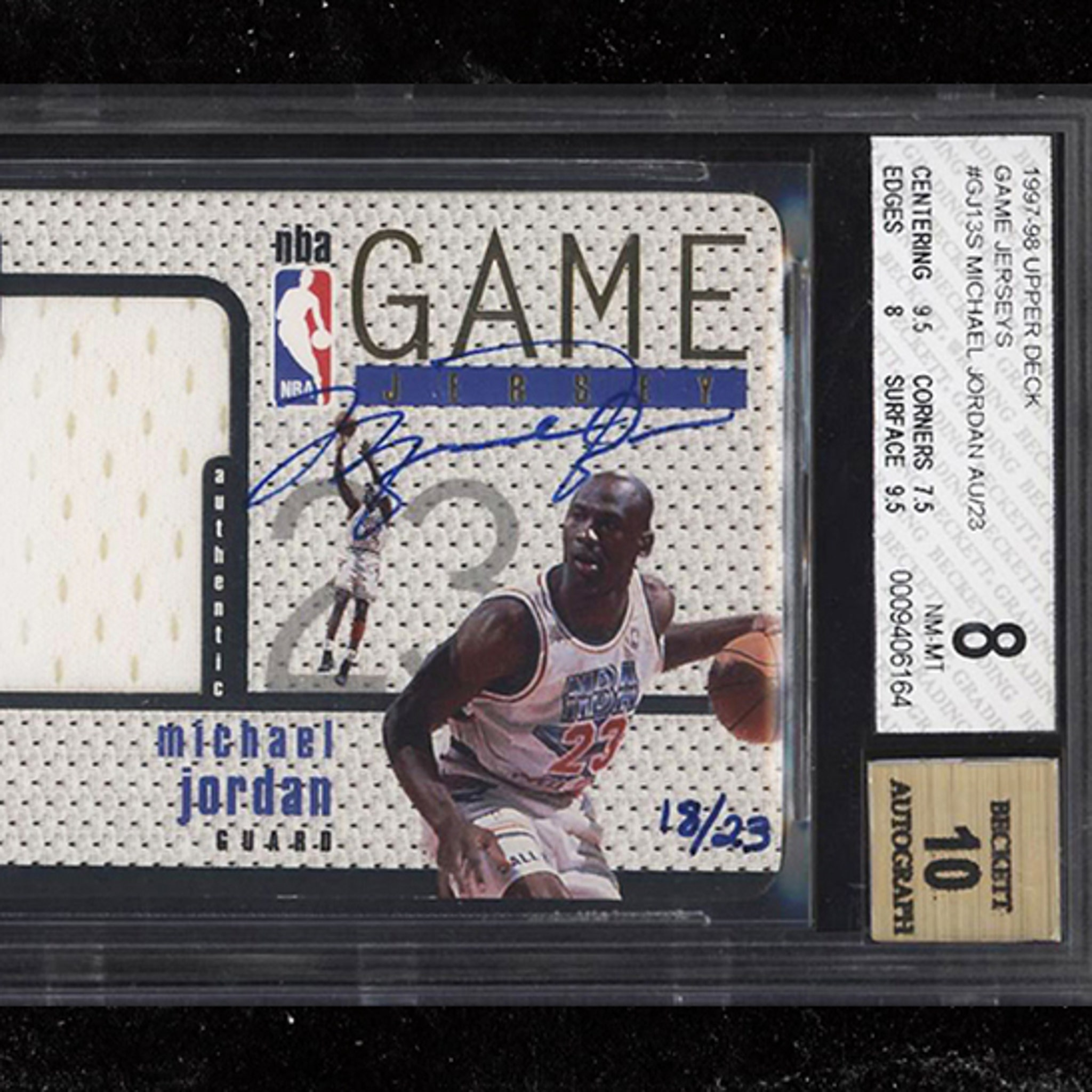 cheap for discount e4ea8 6f0f0 Rare Michael Jordan Autographed Jersey Card Sells for Almost ...