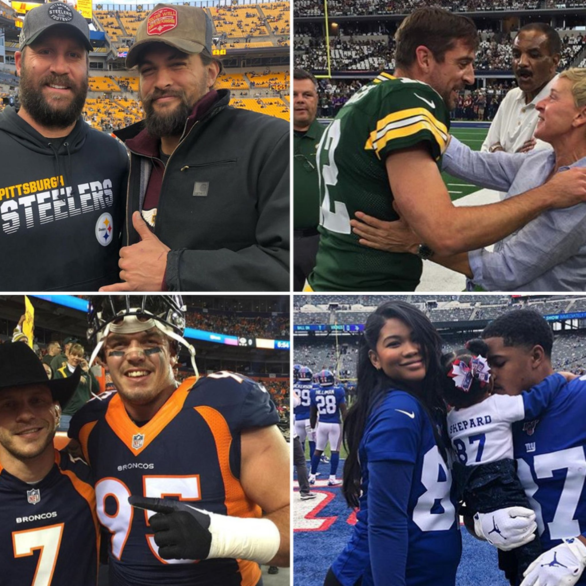Hollywood Starpower Invades NFL Sidelines, Players Love It!!