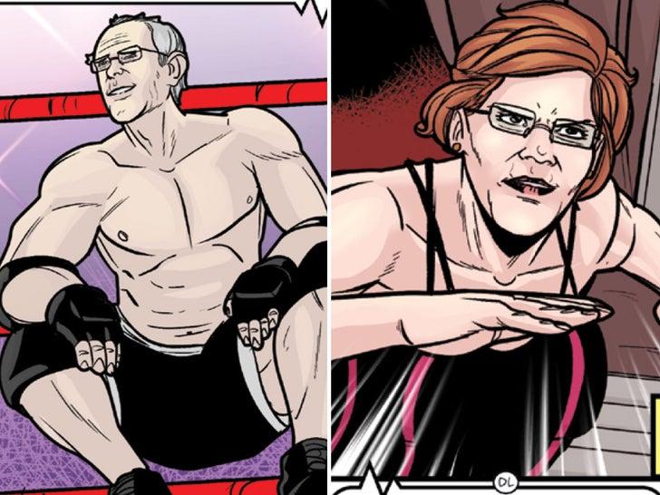 Bernie Sanders Dominates in Wrestling Comic Book