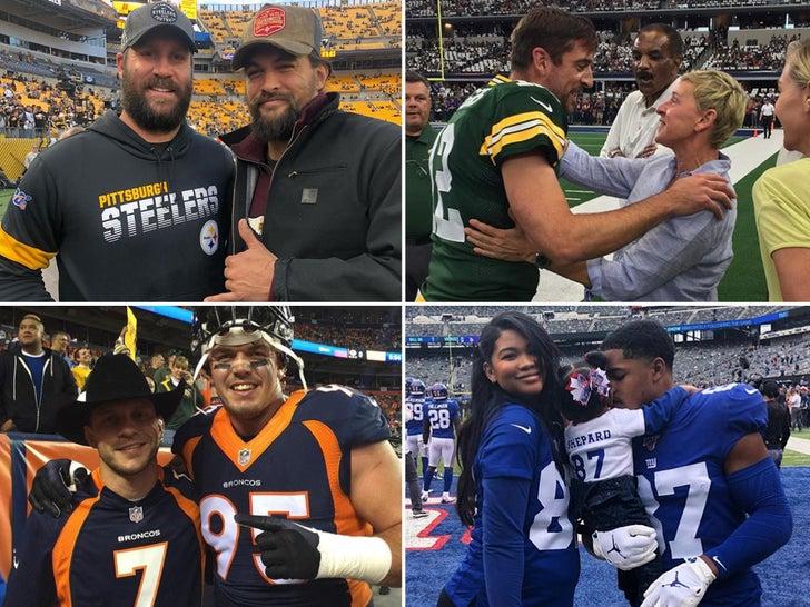 Celebs Sideline With NFL Stars