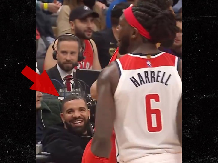 Drake And Montrezl Harrell Trash Talk Leads To Technical Foul, Player Denies Beef.jpg