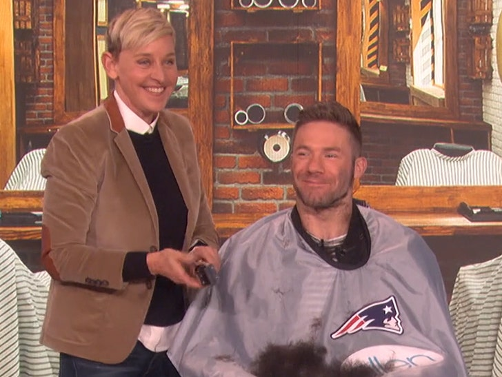 Julian Edelman Gets Mvp Beard Shaved By Ellen Degeneres