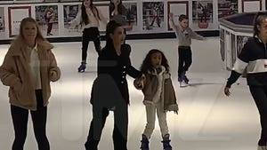 Kim Kardashian, Kanye West Take The Family Ice Skating In Houston