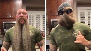 MMA Ref Mike Beltran Turns Famous Mustache Into COVID-19 Mask