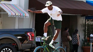 Tyler the Creator 'Surfs' on His Bike in L.A.