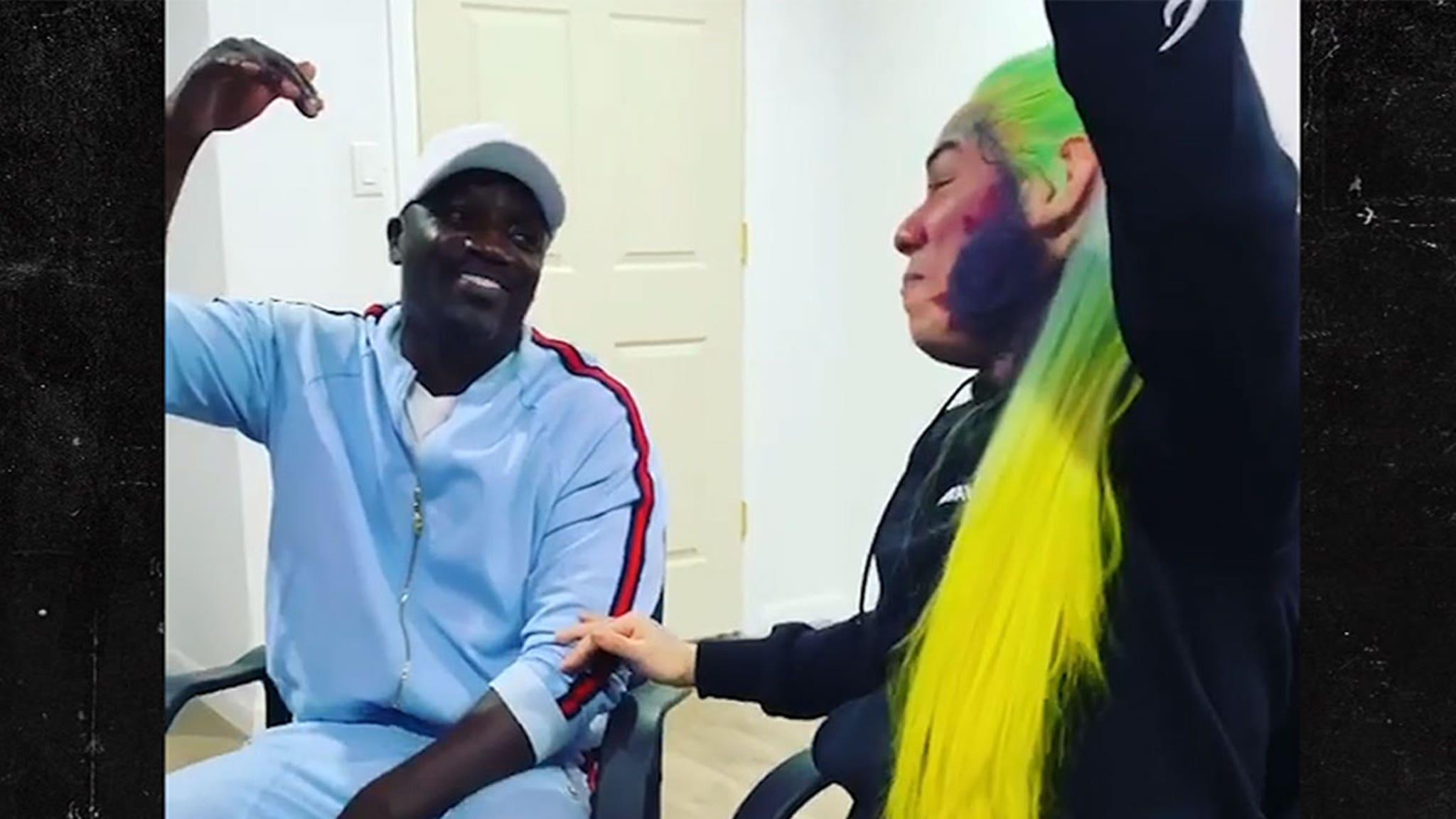 Tekashi 6ix9ine Links Up with Akon for 'Locked Up' Part 2 - TMZ