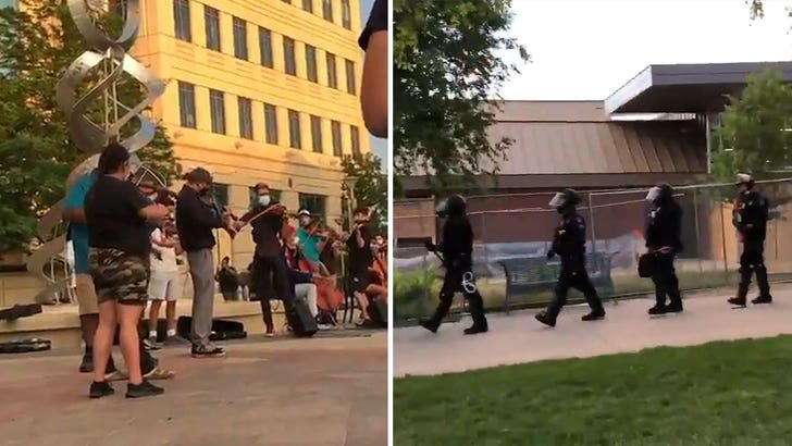 Aurora PD Boots and Pepper Sprays Peaceful Protesters at Violin Vigil for Elijah McClain 1