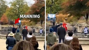 Peyton Manning Hits Beer Cans Off Statues With David Letterman, Still Got It!
