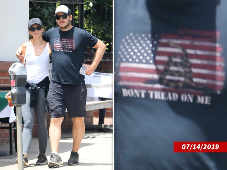 Chris Pratt Criticized For Wearing T-Shirt With Historical Flag On It