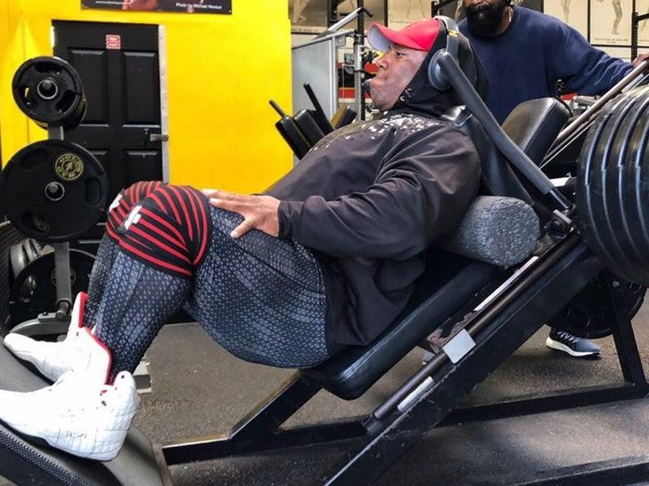 Shawn Rhoden in the Gym