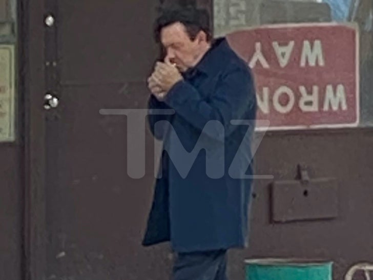 Kevin Spacey On Set Of 'Peter Five Eight'