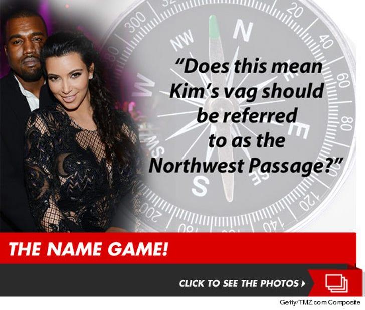 Kim Kardashian & Kanye -- The Name Game!