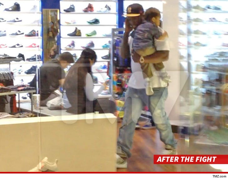 50 Cent -- Caught Up in Mall Fight     Bodyguard Under