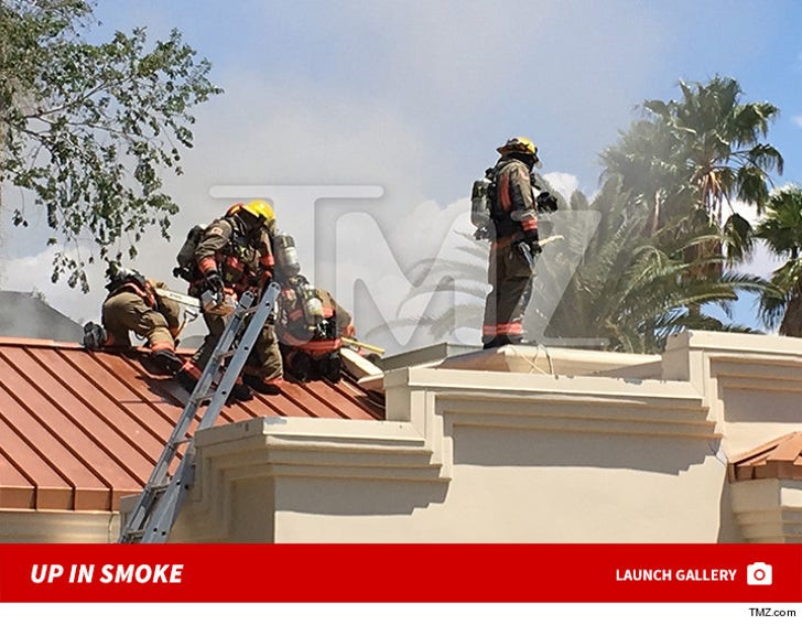 Mally Mall's house up in smoke
